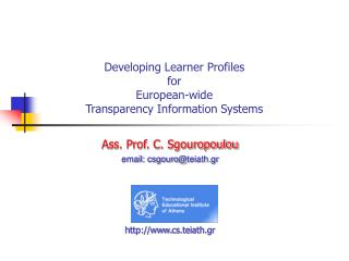 Developing Learner Profiles  for European-wide  Transparency Information Systems