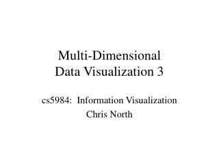 Multi-Dimensional  Data Visualization 3