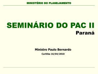 MINIST RIO DO PLANEJAMENTO