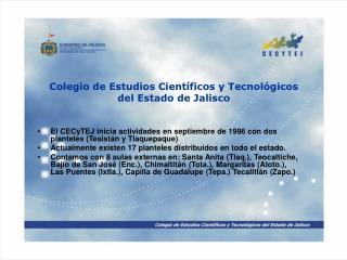 Colegio de Estudios Cient ficos y Tecnol gicos del Estado de Jalisco