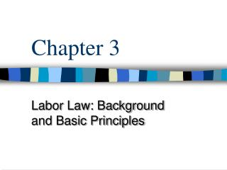 Labor Law: Background and Basic Principles