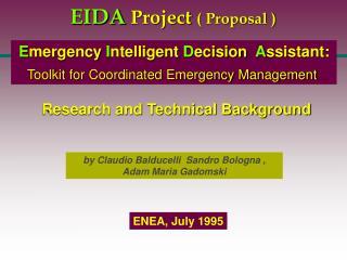 EIDA Project  ( Proposal )