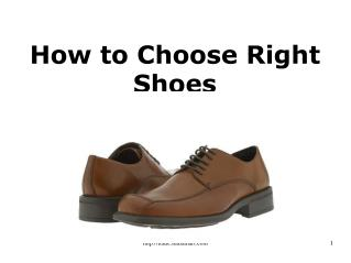 How to Choose Right Shoes