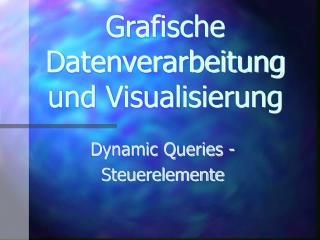 Grafische Datenverarbeitung und Visualisierung