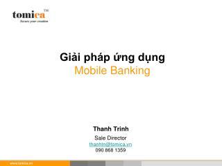 Giải pháp ứng dụng Mobile Banking