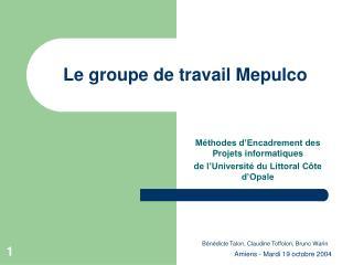 Le groupe de travail Mepulco
