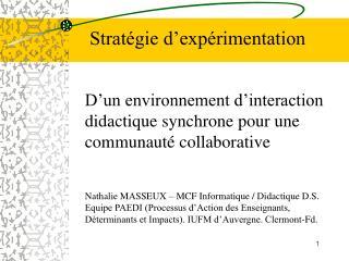 D'un environnement d'interaction didactique synchrone pour une communauté collaborative