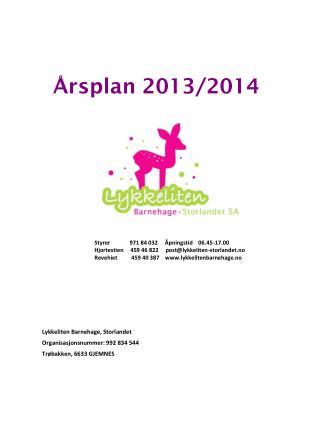 Årsplan 2013/2014