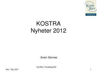KOSTRA Nyheter 2012