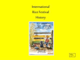 International  Rice Festival  History