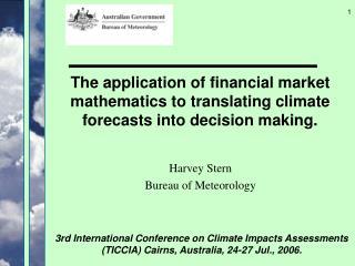 Harvey Stern Bureau of Meteorology