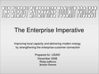 The Enterprise Imperative