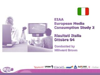 EIAA  European Media  Consumption Study 2 Risultati Italia Ottobre 04