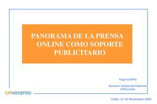 PANORAMA DE LA PRENSA ONLINE COMO SOPORTE PUBLICITARIO