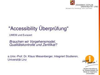 """Accessibility Überprüfung"""