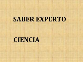 SABER EXPERTO