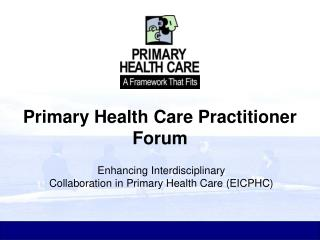 Primary Health Care Practitioner Forum