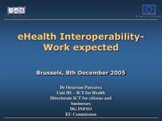 eHealth Interoperability-  Work expected