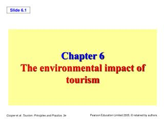 Chapter 6 The environmental impact of tourism