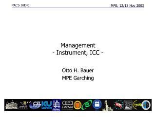 Management  - Instrument, ICC -