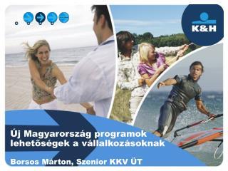 Új Magyarország programok lehetőségek a vállalkozásoknak Borsos Márton, Szenior KKV ÜT