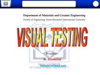 VISUAL TESTING