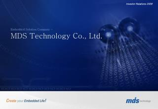 Embedded Solution Company - MDS Technology Co., Ltd.