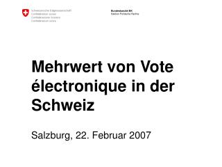 Mehrwert von Vote électronique in der Schweiz