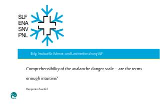 Comprehensibility of the avalanche danger scale – are the terms enough intuitive? Benjamin Zweifel