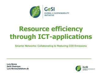 Resource efficiency through ICT-applications