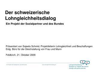 Der schweizerische Lohngleichheitsdialog
