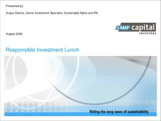 Responsible Investment Lunch