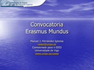 Convocatoria Erasmus Mundus