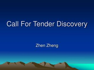 Call For Tender Discovery