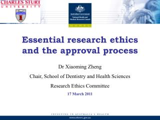 Essential research ethics and the approval process