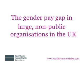 The gender pay gap in large, non-public organisations in the UK