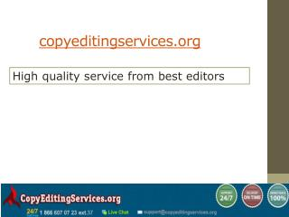 High quality service from best editors