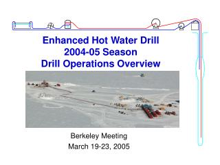 Enhanced Hot Water Drill  2004-05 Season  Drill Operations Overview