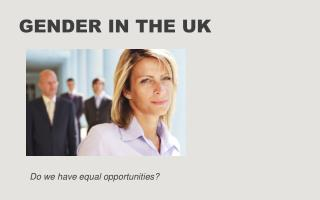 Gender in the UK