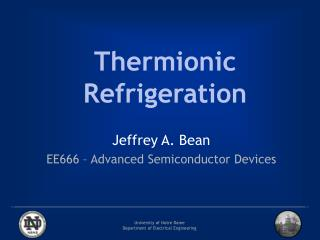 Thermionic Refrigeration