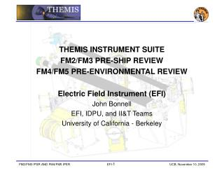 THEMIS INSTRUMENT SUITE  FM2/FM3 PRE-SHIP REVIEW  FM4/FM5 PRE-ENVIRONMENTAL REVIEW