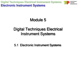 Module 5 Digital Techniques Electrical Instrument Systems