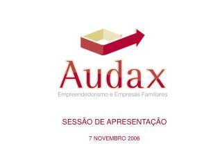 SESS O DE APRESENTA  O 7 NOVEMBRO 2006