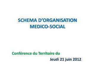 SCHEMA D'ORGANISATION MEDICO-SOCIAL