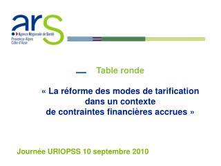 Journée URIOPSS 10 septembre 2010