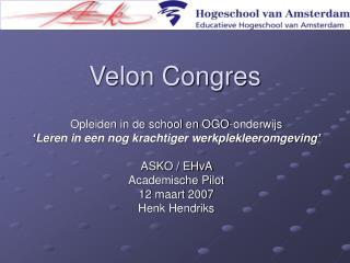 Velon Congres