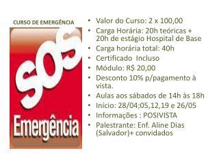 CURSO DE EMERGÊNCIA
