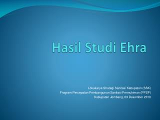 Hasil Studi Ehra