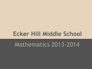 Ecker Hill Middle School