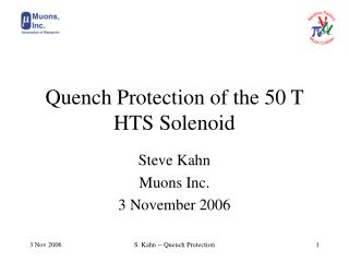 Quench Protection of the 50 T HTS Solenoid